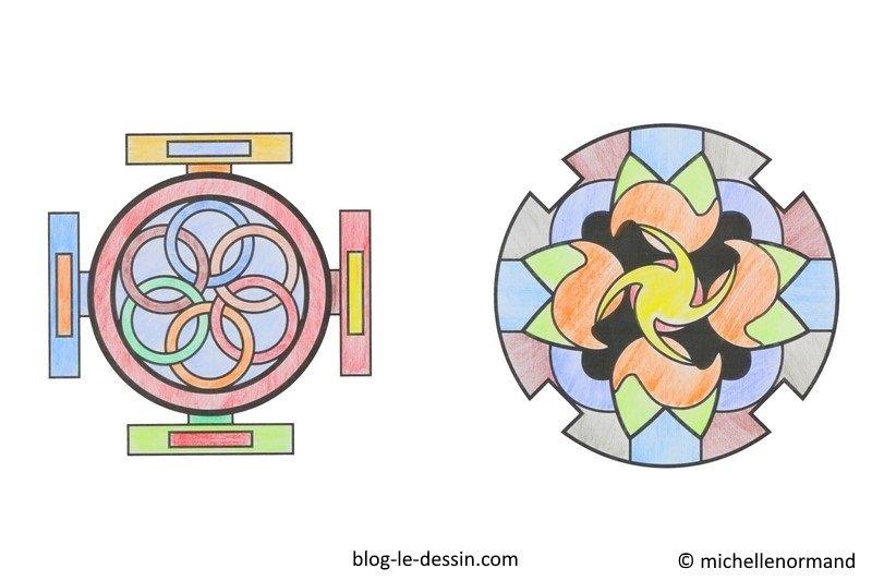 Faire un coloriage anti-stress, coloriage de mandala, coloriage adulte