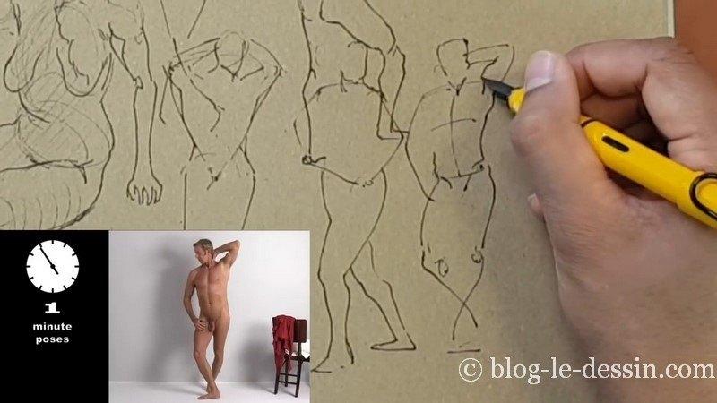 dessiner homme epaule levee