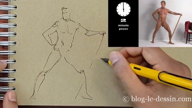 dessiner un homme seance croquis