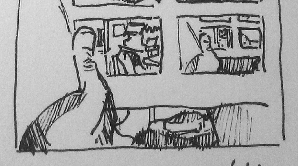 dessiner dans les transports