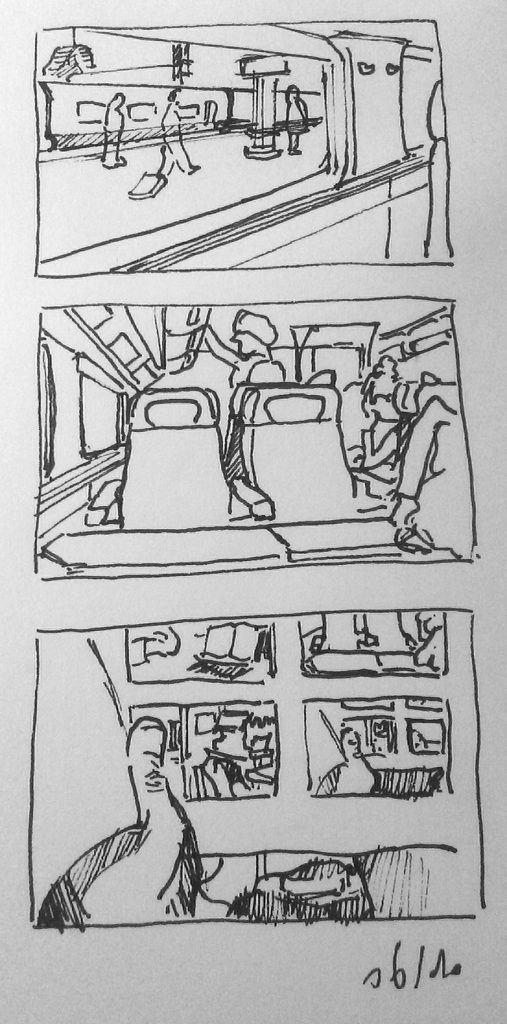 dessiner dans les transports en commun