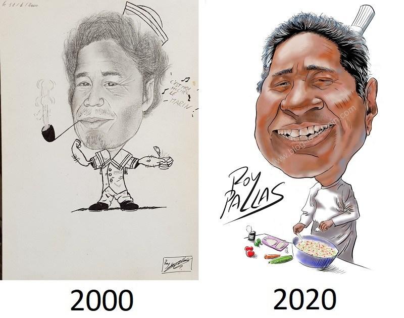 faire une caricature, avant - après