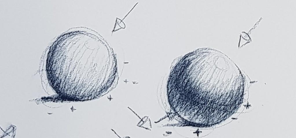 schéma ombres sur des sphères