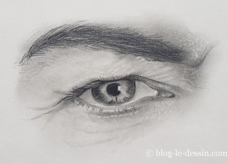 dessiner à la gomme des yeux hyper réalistes