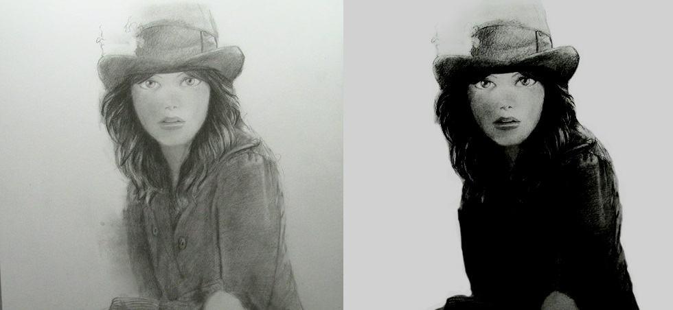 dessiner avec du contraste fort