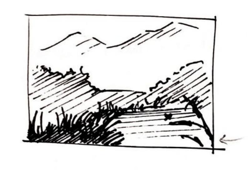 dessiner avec la perspective atmosphérique