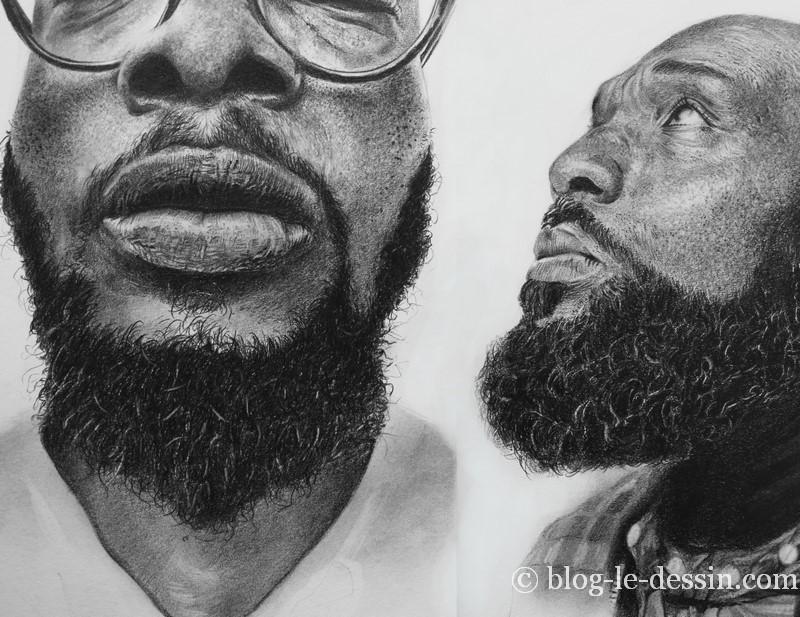 dessiner une barbe réaliste