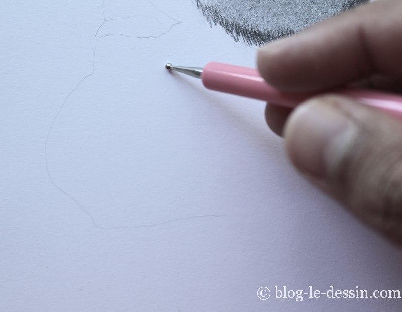 dessiner une barbe