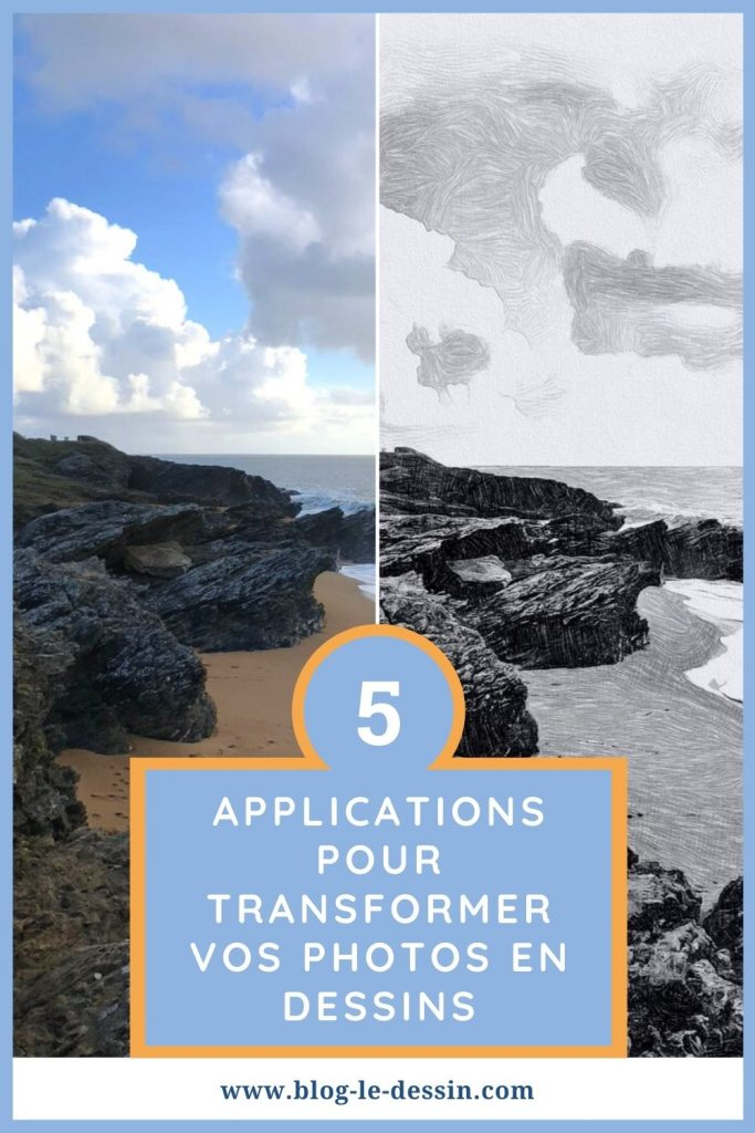 applications transformer une photo en dessin Pinterest