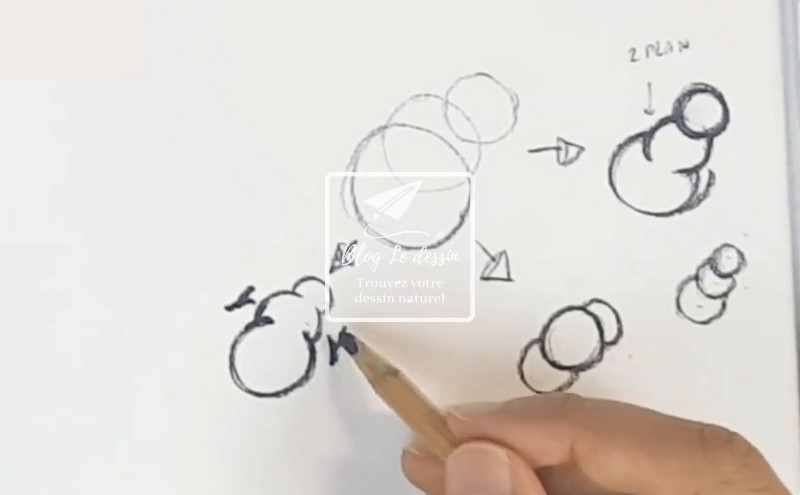 dessiner les raccourcis en dessin