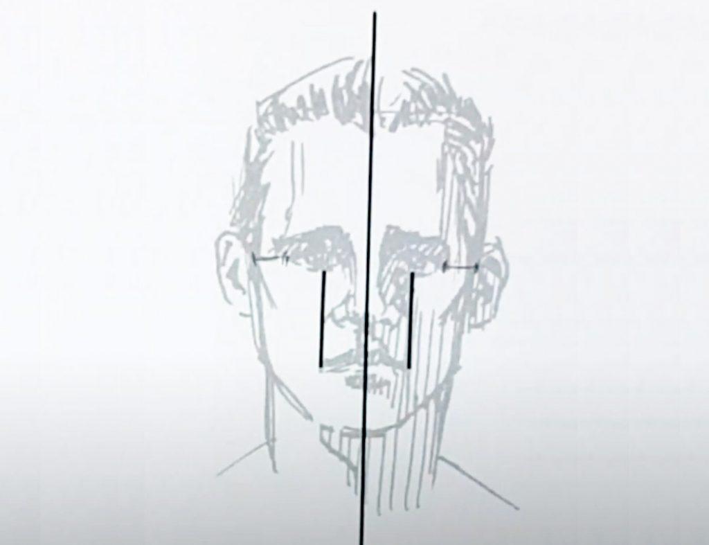 dessiner un visage avec de bonnes proportions