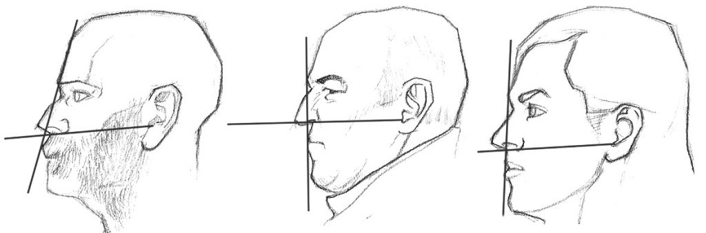 dessin visage de profil