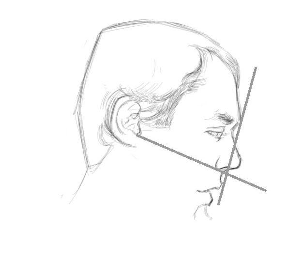 dessiner un portrait de profil