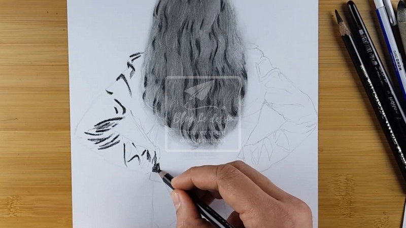 dessiner une veste en cuir