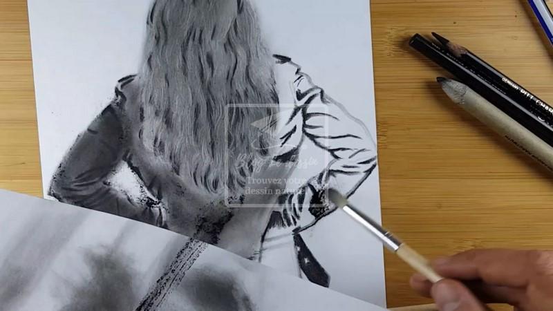 veste en cuir dessin réaliste