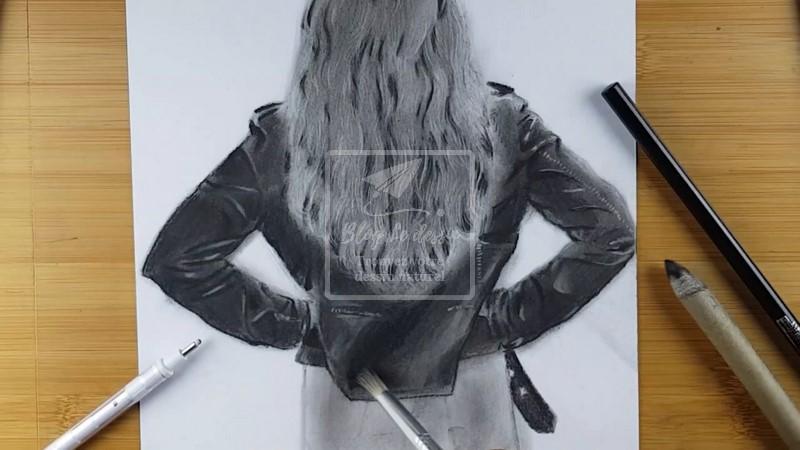 vêtement en cuir dessin réaliste